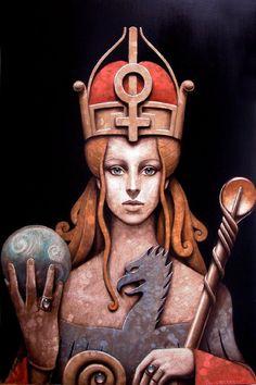 Totemic figures painted by Matteo Arfanotti - ego-alterego.com