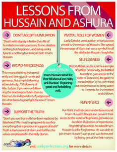 Learn from imam hussain who gave his life to give you life, freedom and religon islam