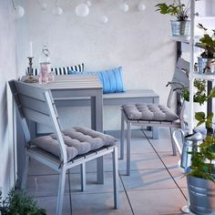 Ikea garden furniture for a small terrace oasis! - Best Home Designs Ikea Garden Furniture, Tiny Furniture, Balcony Furniture, Outdoor Furniture Sets, Furniture Ideas, Furniture Dolly, Lounge Furniture, Small Balcony Design, Small Terrace
