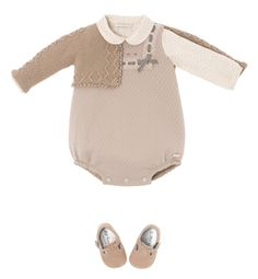 Pili Carrera - USA - Baby Collections Knitting For Kids, Baby Knitting, Baby Girl Fashion, Kids Fashion, Moda Crochet, Usa Baby, Knitted Baby Clothes, Baby Wearing, Kids Wear