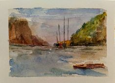 Oregon Coast watercolor cards that I'm painting while visiting family.