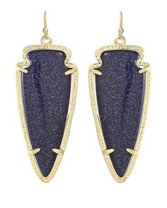 Kendra Scott Skylar Earrings in Blue Goldstone. #KendraScott