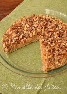 Más allá del gluten...: Pastel de Manzana y Nueces (Receta GFCFSF, Vegana)...SIN LEVADURA