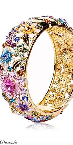 Gold and Crystals Bracelet