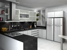 Proyecto de cocina Kitchen Island, Table, Furniture, Home Decor, Architects, City, Cooking, Island Kitchen, Decoration Home