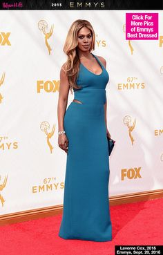 Laverne Cox Stuns In Sexy Cutout Gown At The 67th EmmyAwards