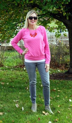 BBCA DAY 29~ October 29, 2014~Doused in Pink: What I Wore - Fall Style Challenge Week 2