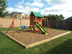 Etonnant Playset, Swingset And Playground Borders, Fall Zones