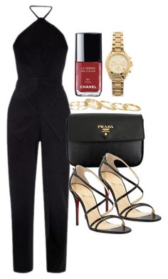 """Style #8955"" by vany-alvarado ❤ liked on Polyvore featuring Balenciaga, Prada, Christian Louboutin, Kendra Scott, Michael Kors and Chanel"