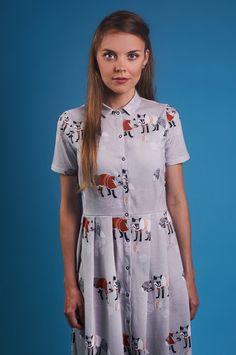 #fox, #foxdress, #shirtdress, #samodobro