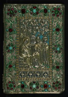 Gospel Book, Original treasure binding, Walters Manuscript W.540, Upper board outside | Flickr - Photo Sharing!