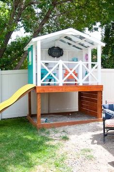 Learn How To Build A DIY Playhouse. This Week We Have All The Details For  How To Roof The Outdoor Playhouse With Corrugated Roofing Panels.