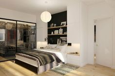 Apartment In Phoenix : Beware With The Price: Captivating Apartment In Phoenix With King Size Matress Also Bedside Table Bedside Lamp As Well Laminate Wood Floor And White Bed Pillow ~ surrealcoding.com Apartments Inspiration