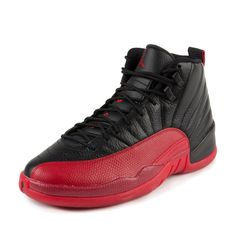 5beb7caf70e1 Nike Mens Air Jordan 12 Retro Flu Games Black Varisty Red Leather Size 11    You can find more details by visiting the image link. (This is an affiliate  link ...