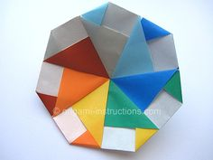 Origami Modular Spinning Top Folding Instructions and Video