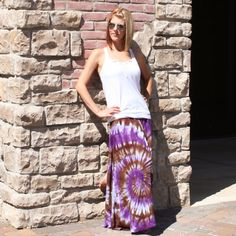 Tie Dye Maxi Skirt NEW From The Boho Couture Line  by 1GreatThing, $40.00
