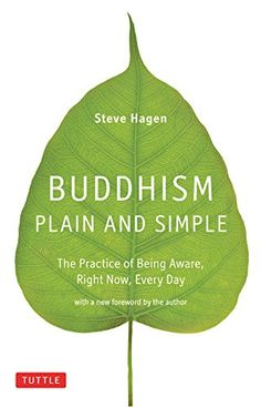 Buddhism Plain and Simple by Steven Hagen http://smile.amazon.com/dp/B005CVTTWM/ref=cm_sw_r_pi_dp_Cnl.vb1JS7QN2