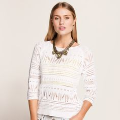 New Mexico Pointelle Jumper from Dotti