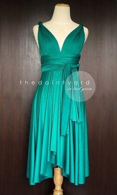 Demoiselle d'honneur vert Sarcelle robe robe par thedaintyard