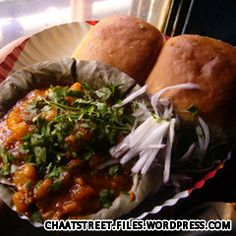 "The best way to describe pav bhaji is ""Indian-spicy vegetarian sloppy joes."" It's not eaten in sandwich form, though -- instead the mashe. Mumbai Street Food, Indian Street Food, Best Street Food, Vegetarian Sloppy Joes, Pav Bhaji, Indian Food Recipes, Ethnic Recipes, India Food, Restaurant Recipes"