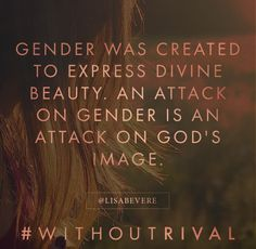An attack on gender is an attack on God's image. Amen!Lisa Bevere new book…