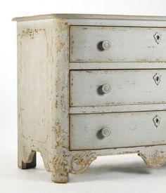 gustavian furniture | Gustavian Gray Washed Furniture 'Vintage' Swedish Gustavian French ...