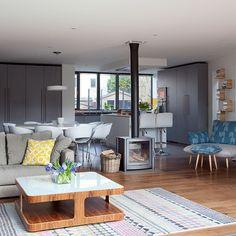 Modern grey and white kitchen diner | Kitchen decorating ideas | Beautiful Kitchens | Housetohome.co.uk