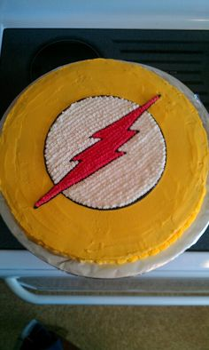 Young Justice Flash birthday cake