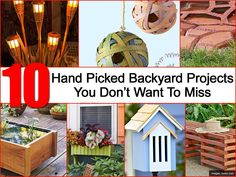 Walk into a home improvement store like Lowes and you'll find loads of materials and tools to build and assemble all kinds of projects around the house. We went through 100's of possible projects and found 10 that you can do to set your back yard apart. You'll find how-to's, materials list and be ready …