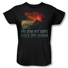 "The Lord of the Rings ""One Does Not Simply Walk into Mordor"" Women's Relaxed Fit T-Shirt"