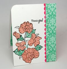 handmde card from Anjillic Creations ... paper pieced sweet peas ... stamped on patterned papers ...  fussy cut ... have to get that stamp for the Sweet Pea lovers in my family!