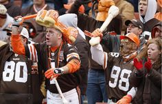 The Cleveland Browns Dawg Pound.  Oh the love and loyalty of Browns Fans