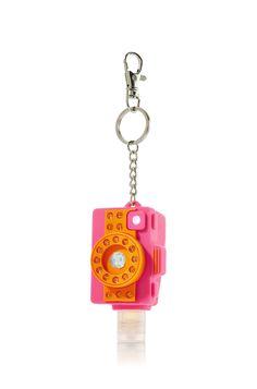 Pink and orange camera pocketbac