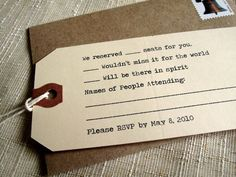 cute rsvp tag cards