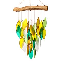 I love the sound of wind chimes.  I would place them all around the house to hear them.  This hubby keeps taking them down though because HE doesn't like them.  hmmm  WATERFALL WIND CHIME