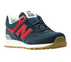 New Balance Herren, , nbml574wdh, blau (blue/red), 41.5 - http://on-line-kaufen.de/new-balance/41-5-eu-new-balance-574-unisex-erwachsene-sneakers