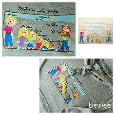 So much love in this Family <3 #bewee #embroidery #bordados #kidsart