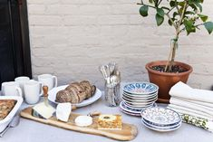 Brooklyn-based Jen Catto served a lavish brunch to entice her friends to help renovate her garden patio