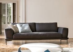 Bonaldo Marc Q Sofa   Contemporary Sofas   Modern Sofas  BONALDO MARC-U SOFA    The Marc-U sofa from leading Italian furniture brand Bonaldo is available in three fixed sizes, there is also a modular version and a choice of different back cushions.     Bonaldo hase a large range of fabrics to choose from, and it's possible to use your own fabric. Legs are available in anthracite grey, white or chromed.  Go Modern www.gomodern.co.uk
