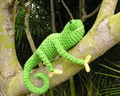 PDF CROCHET PATTERN Carl the Chameleon