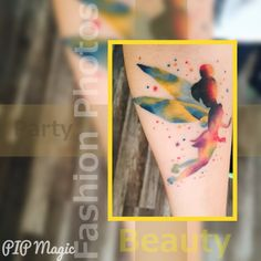 Let yourself to be a child again, tinkerbell tatoo