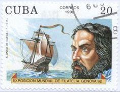 Sello: Alonso de Ojeda (Cuba) (International Stamp Exhibition - Genova '92 (sailors)) Mi:CU 3603,Sn:CU 3443,Sg:CU 3749