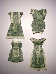Tutorial: Folded money dresses