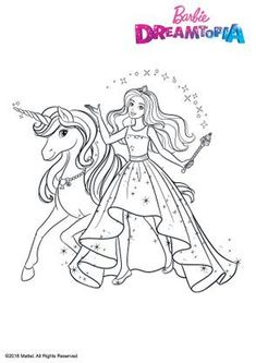 coloring page Barbie Unicorn on Kids-n-Fun. At Kids-n-Fun you will always find the nicest coloring pages first! Barbie Coloring Pages, Disney Princess Coloring Pages, Disney Princess Colors, Mermaid Coloring Pages, Horse Coloring Pages, Coloring Book Art, Cute Coloring Pages, Super Mario Coloring Pages, Barbie Drawing