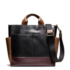 The Bleecker Utility Tote In Leather And Suede from Coach