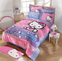 Edredón Hello Kitty Sonrisas  Tela: 50% algodón y 50% poliéster  #ÍntimaHogarMx #Edredón #HelloKitty #Junior