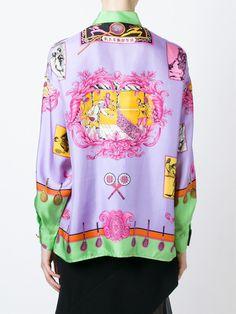 9b5407f754f Versace Vintage Baroque Tennis Print Shirt - Farfetch