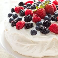 The Perfect Pavlova recipe makes a delicious and showstopping easy-to-make gluten-free dessert that's also on the healthier side!