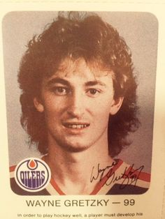Sporting a flowing mullet and uneasy smile, the vintage Wayne Gretzky hockey card is so rare it barely made it off the printing press. #NHL #Hockey