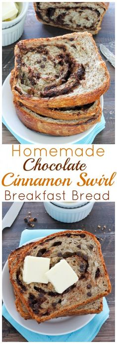 Chocolate Cinnamon Swirl Bread - this is incredible and easy to make at home with simple ingredients!